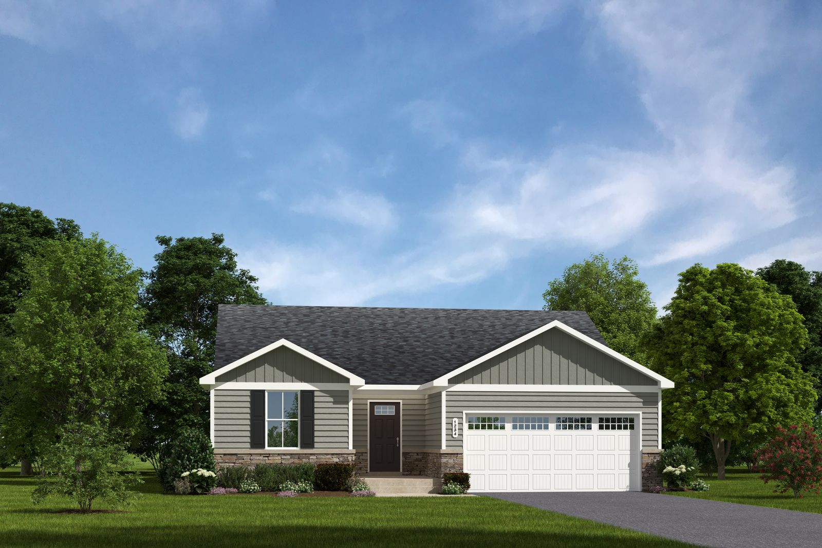 Exterior featured in the Spruce w/ Included Basement By Ryan Homes in Cincinnati, OH