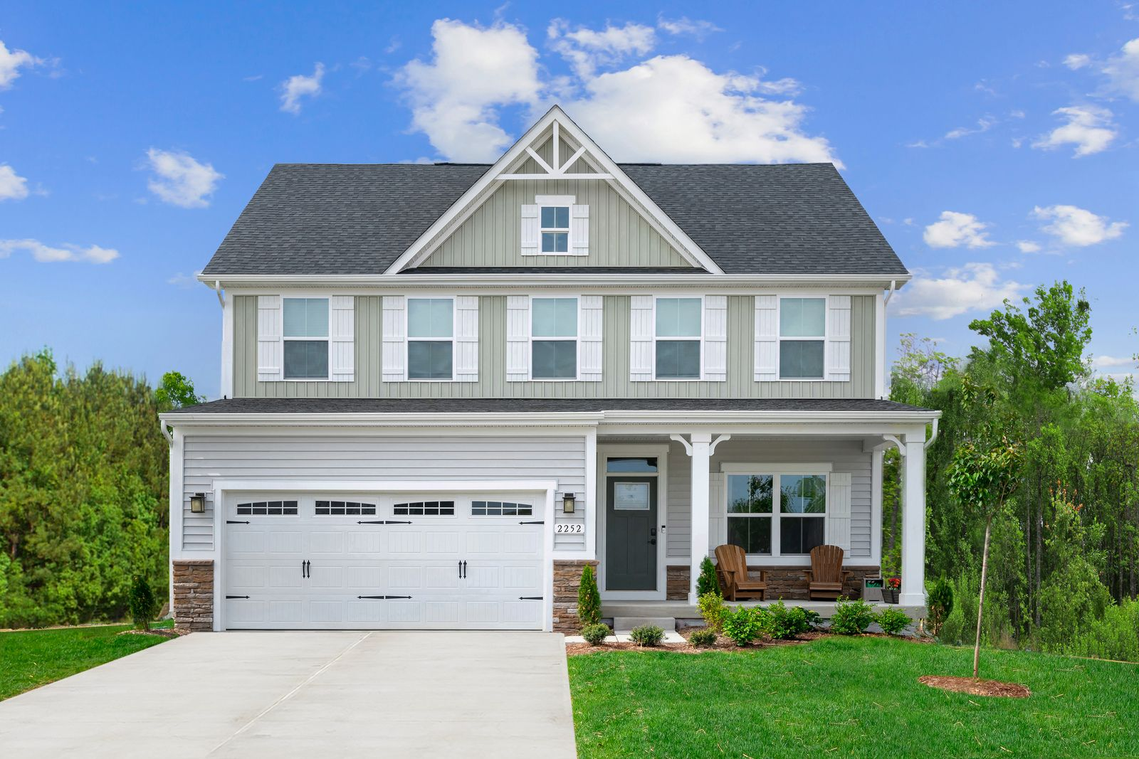 Exterior featured in the Columbia By Ryan Homes in Indianapolis, IN