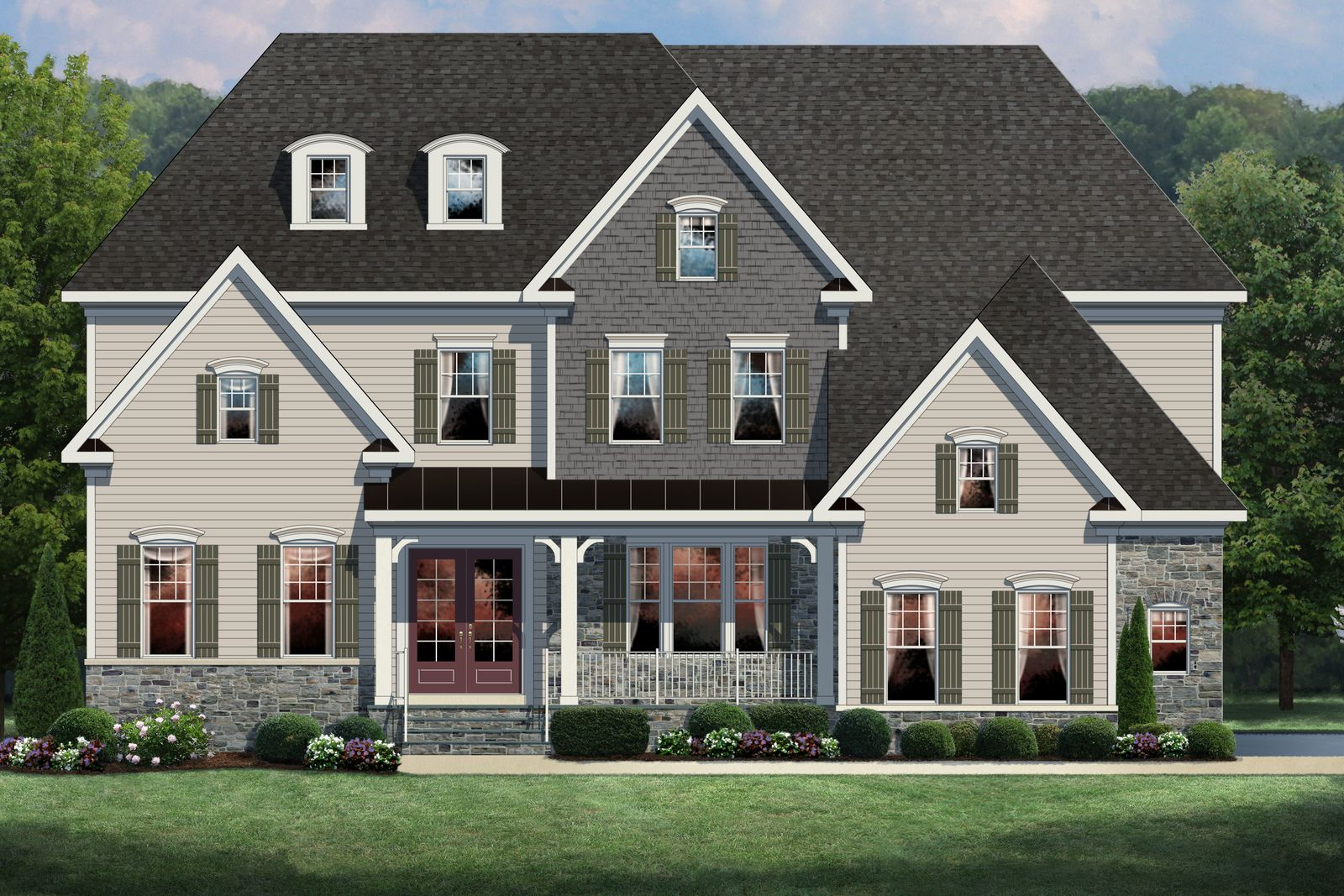 Exterior featured in the Clifton Park II By NVHomes in Philadelphia, PA