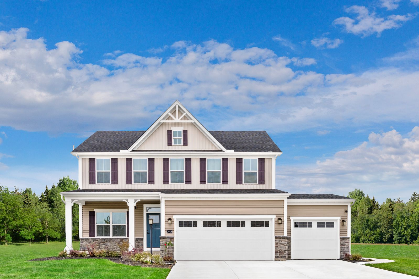 Exterior featured in the Columbia By Ryan Homes in York, PA