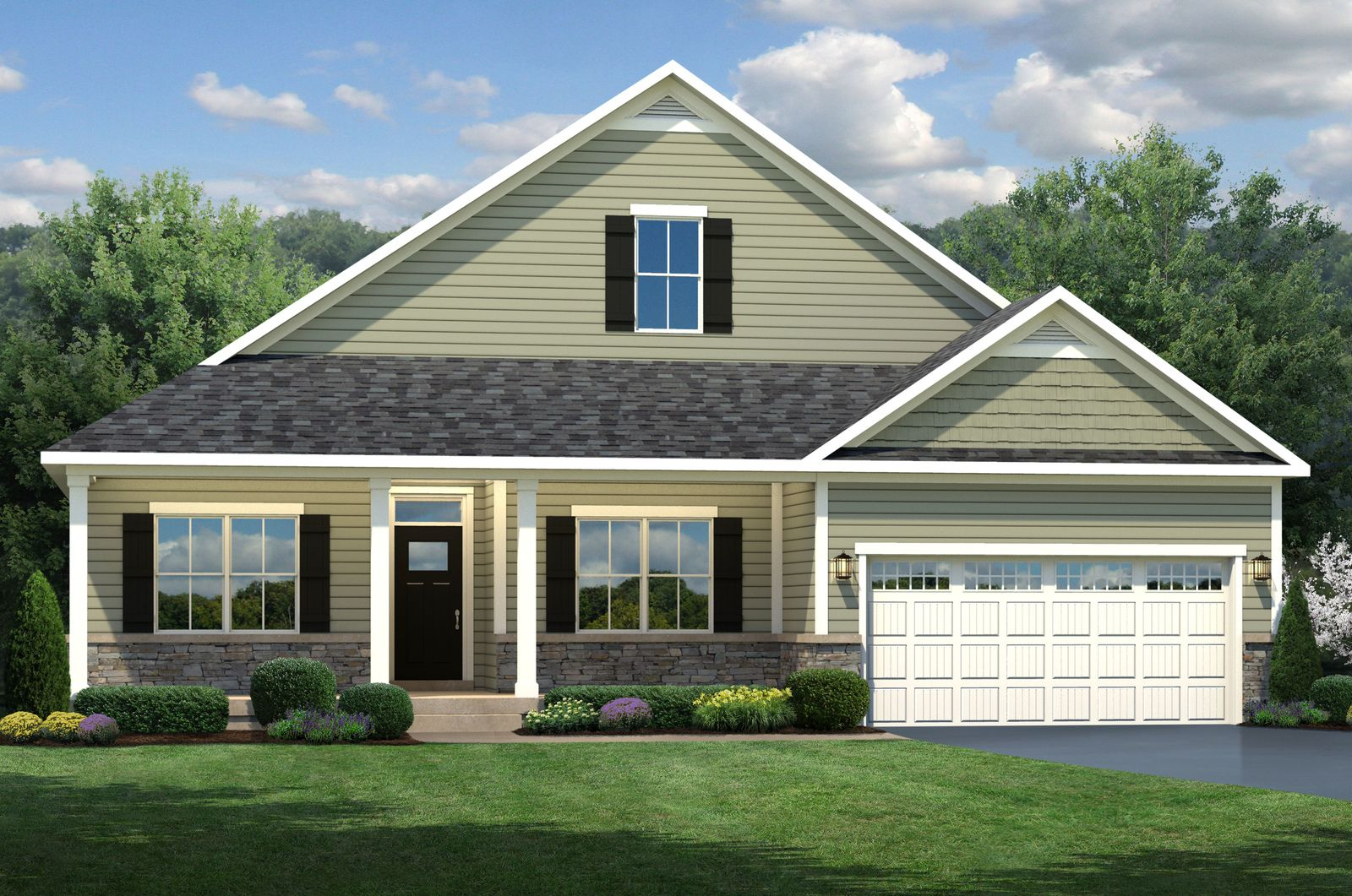 Exterior featured in the Ashbrooke By Ryan Homes in Sussex, DE