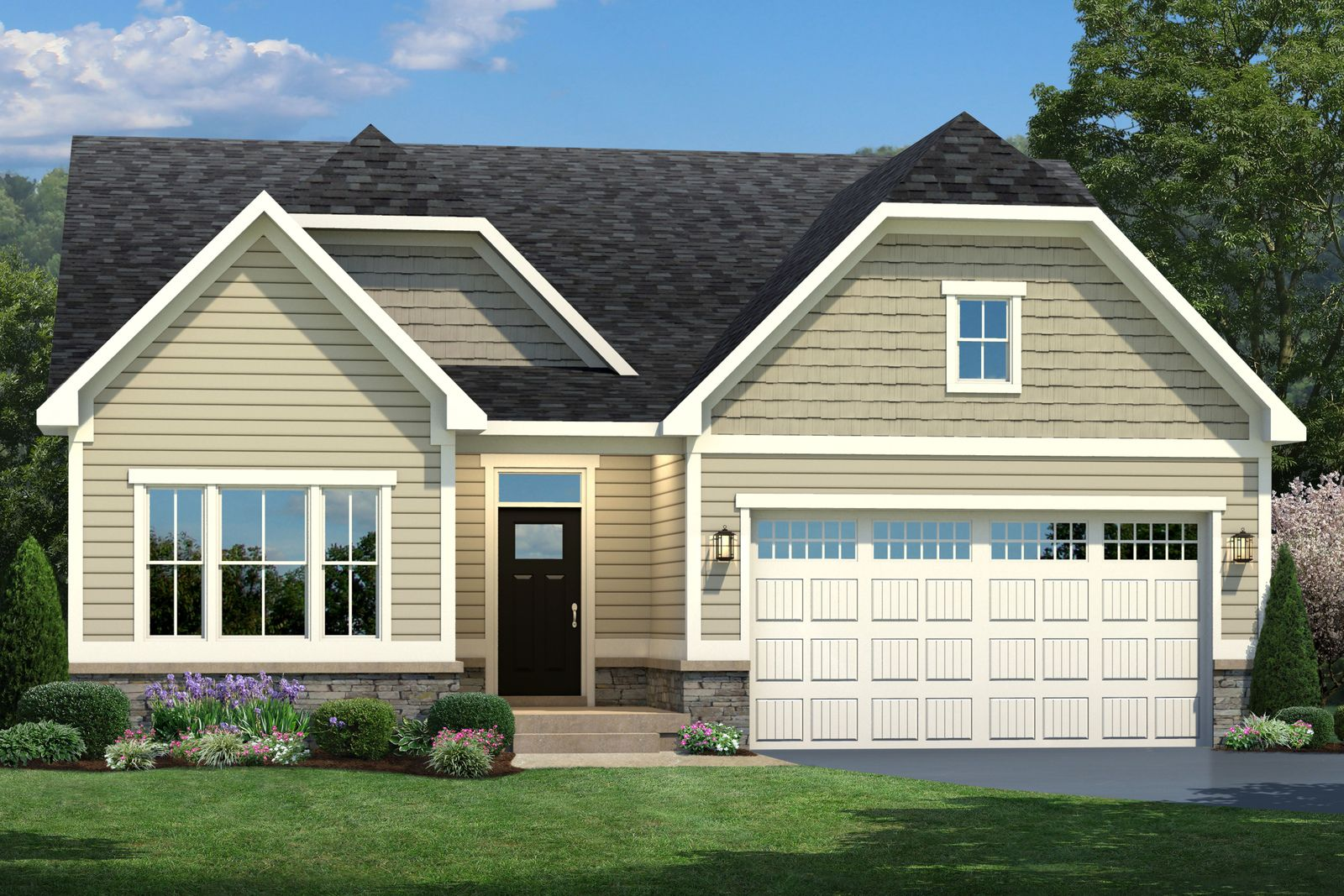 Exterior featured in the Bramante 2 Story By Ryan Homes in Philadelphia, NJ