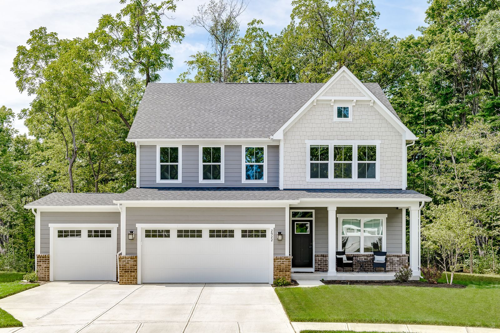 Exterior featured in the Columbia w/ Finished Lower Level By Ryan Homes in Dayton-Springfield, OH