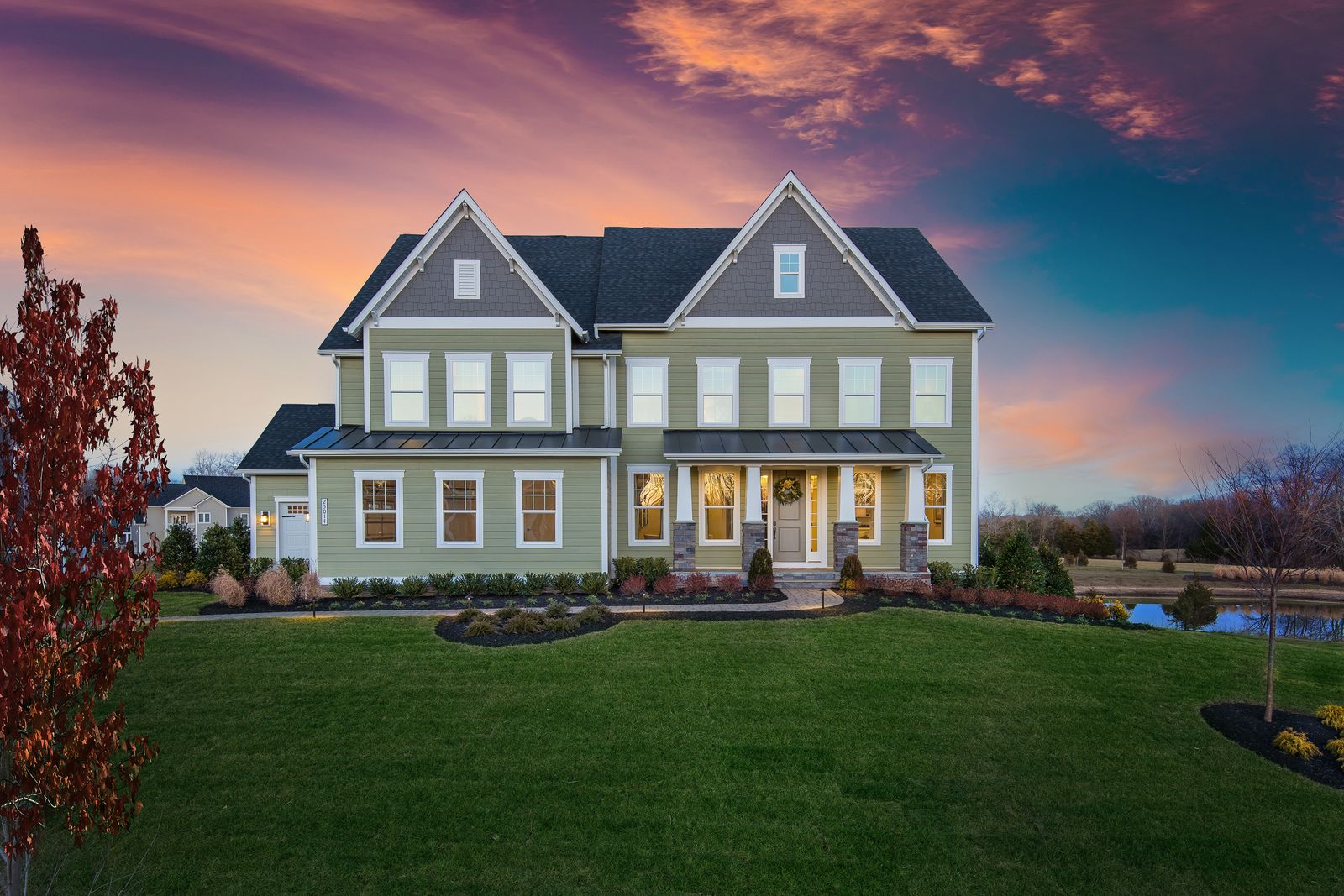 Exterior featured in the Stratford Hall By NVHomes in Sussex, DE