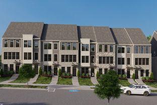 Clarendon 4-Story Rear Terrace - South Tryon Townhomes: Charlotte, North Carolina - Ryan Homes