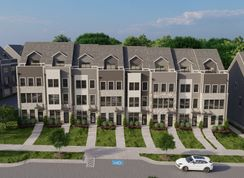 Clarendon 4-Story Front Terrace - South Tryon Townhomes: Charlotte, North Carolina - Ryan Homes