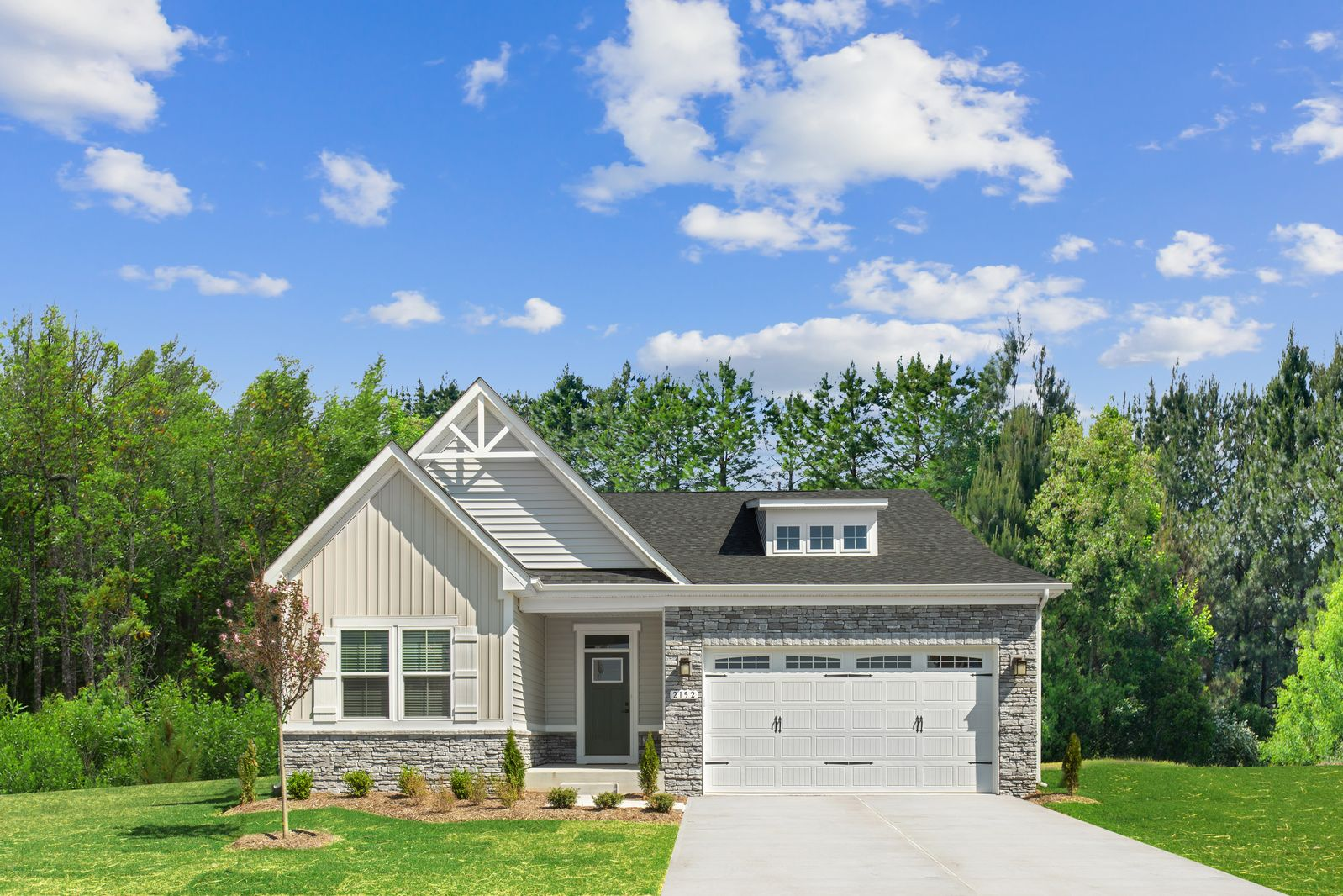 Exterior featured in the Bramante 2-Story By Ryan Homes in Charlotte, NC