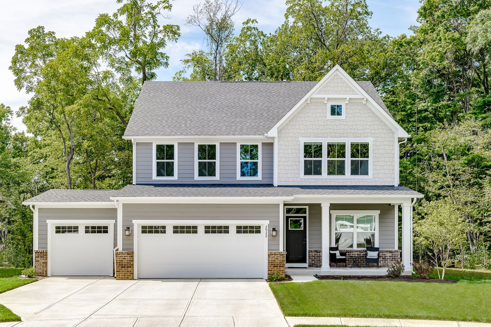 Exterior featured in the Columbia (optional basement) By Ryan Homes in Indianapolis, IN