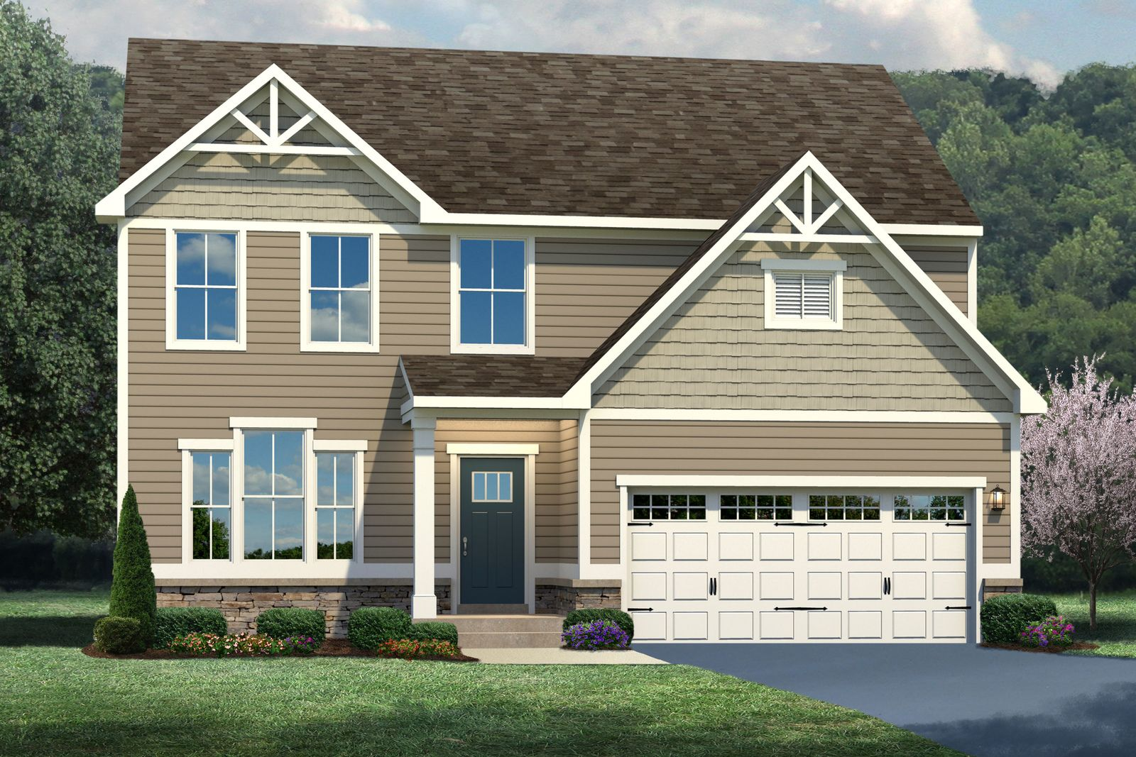 Exterior featured in the Genoa By Ryan Homes in Indianapolis, IN