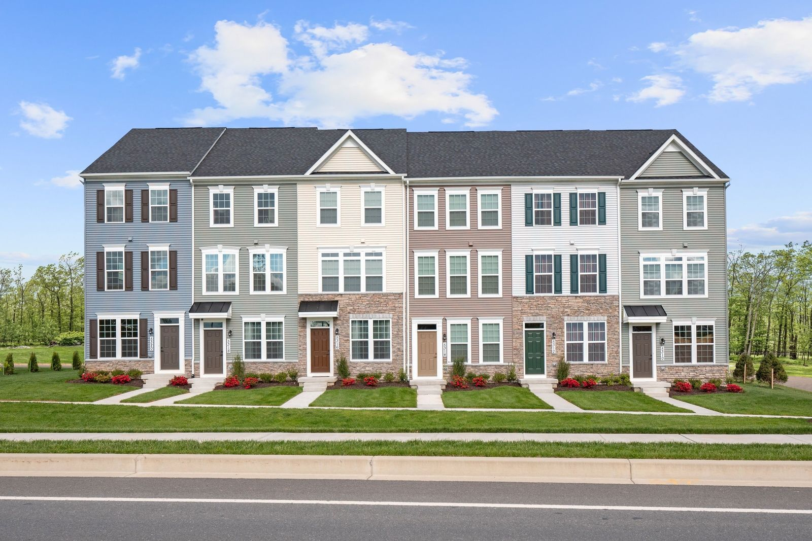 Exterior featured in the Clarendon 3 Story By Ryan Homes in Baltimore, MD
