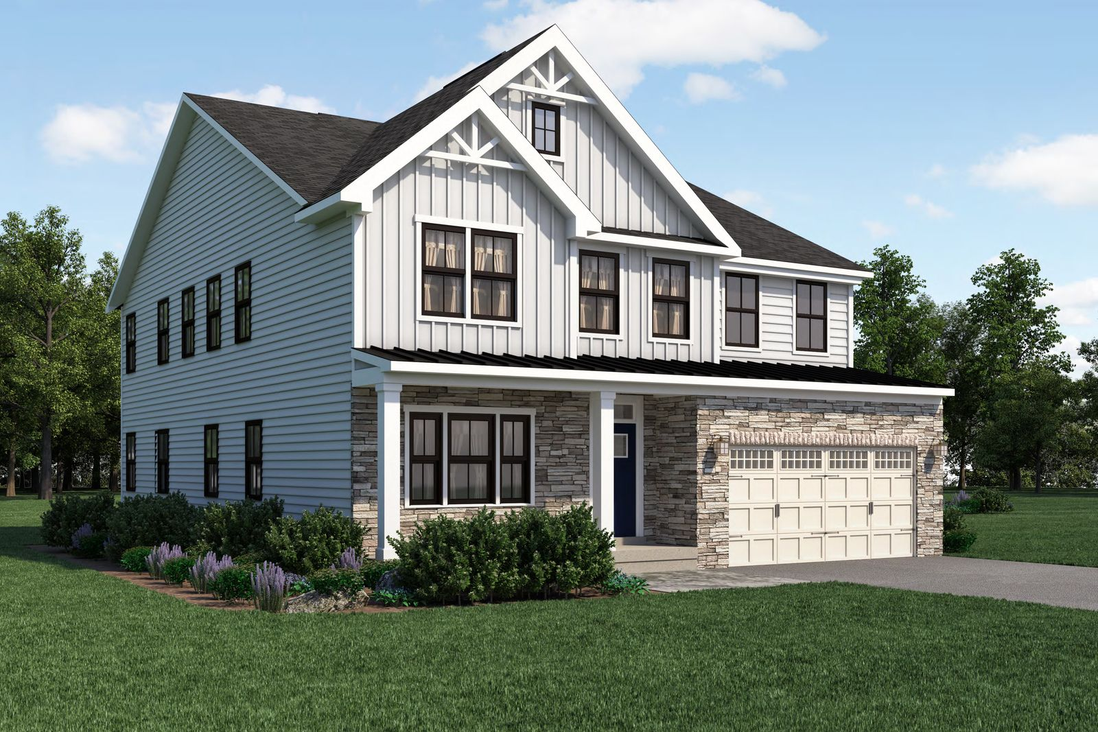 Exterior featured in the York By Ryan Homes in Buffalo-Niagara Falls, NY