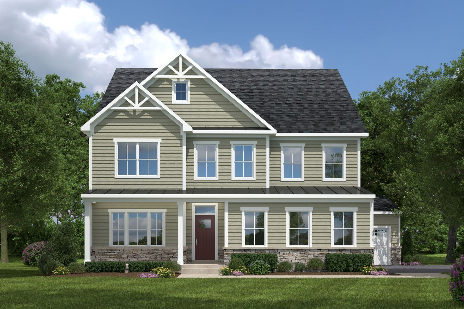 Exterior featured in the York at Hartland By Ryan Homes in Washington, VA
