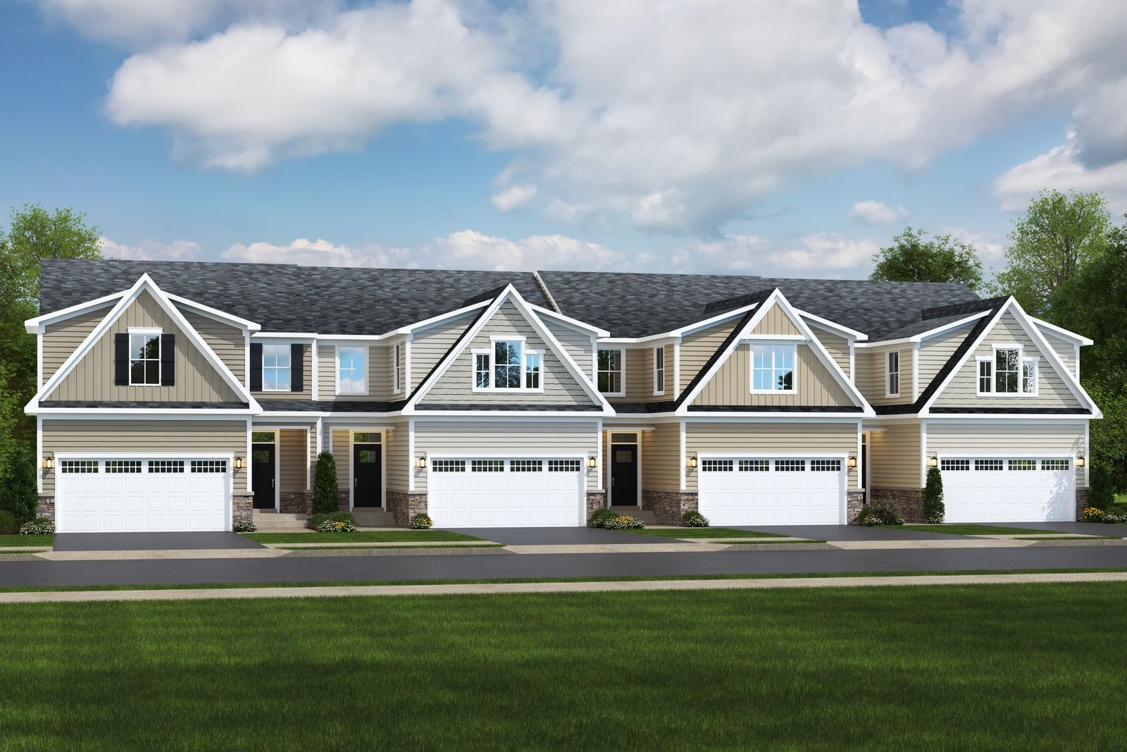 Exterior featured in the Caroline By Ryan Homes in Rochester, NY