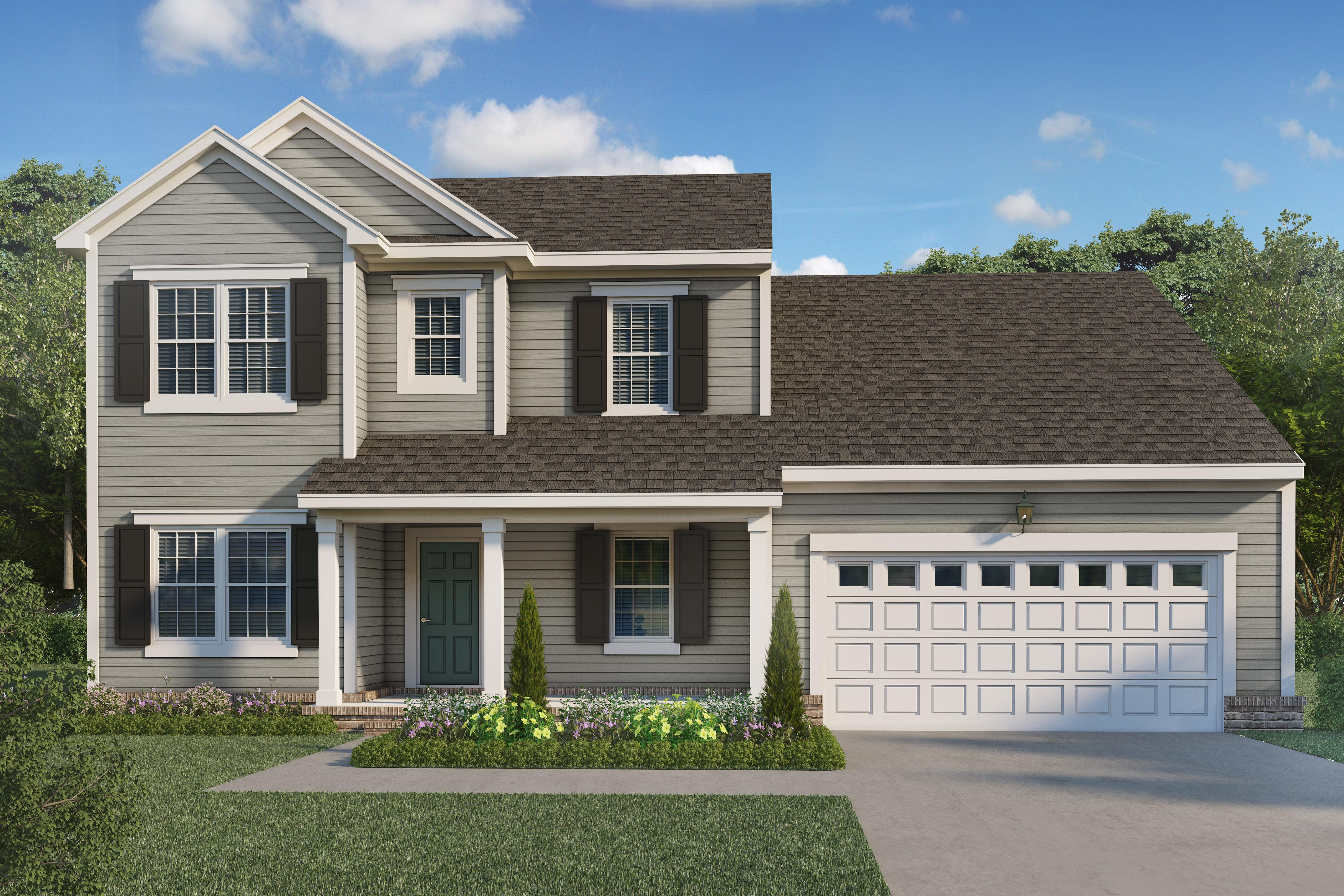 Exterior featured in The Calabria By Napolitano Homes in Norfolk-Newport News, VA