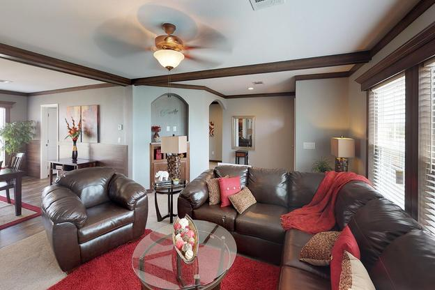 Oak Creek Homes Burleson:Olympian 6356 Living room