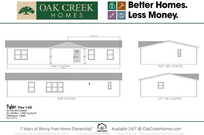 Oak Creek Homes - Single & Multi-Section Floor Plans