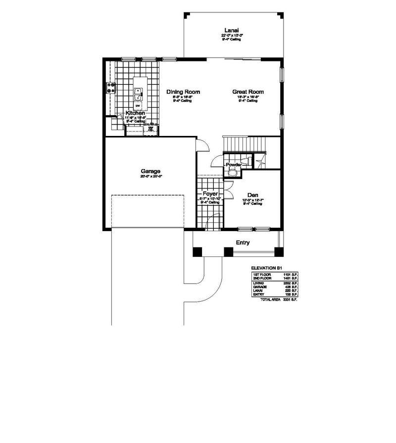 Encore Floorplan 1st Floor