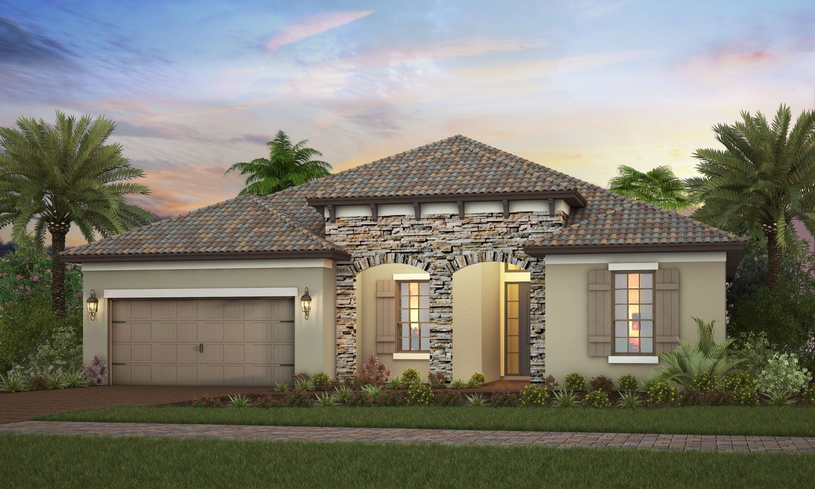 Exterior featured in the Nantucket By Neal Signature Homes in Sarasota-Bradenton, FL