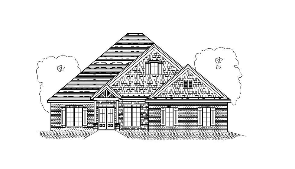 Exterior featured in The Conner - River Region Builder, LLC By New Park - Jim Wilson & Assoc.