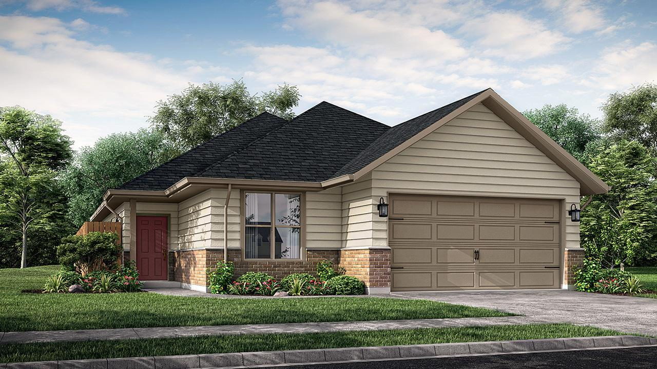 Exterior featured in the Canterbury By New Phase Home Builders in Bryan-College Station, TX