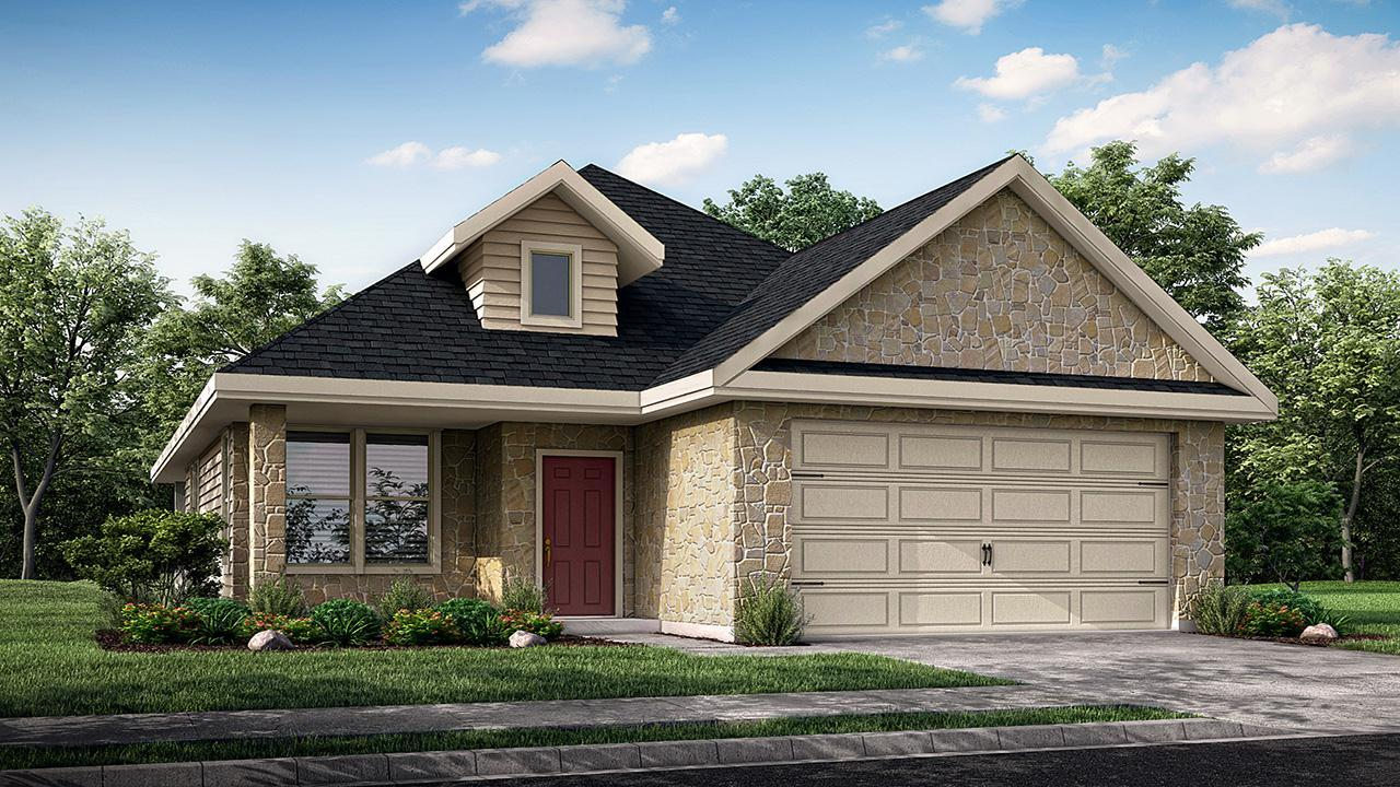 Exterior featured in the Dover By New Phase Home Builders in Bryan-College Station, TX