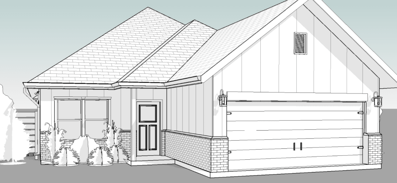 Exterior featured in the Somerset By New Phase Home Builders in Bryan-College Station, TX