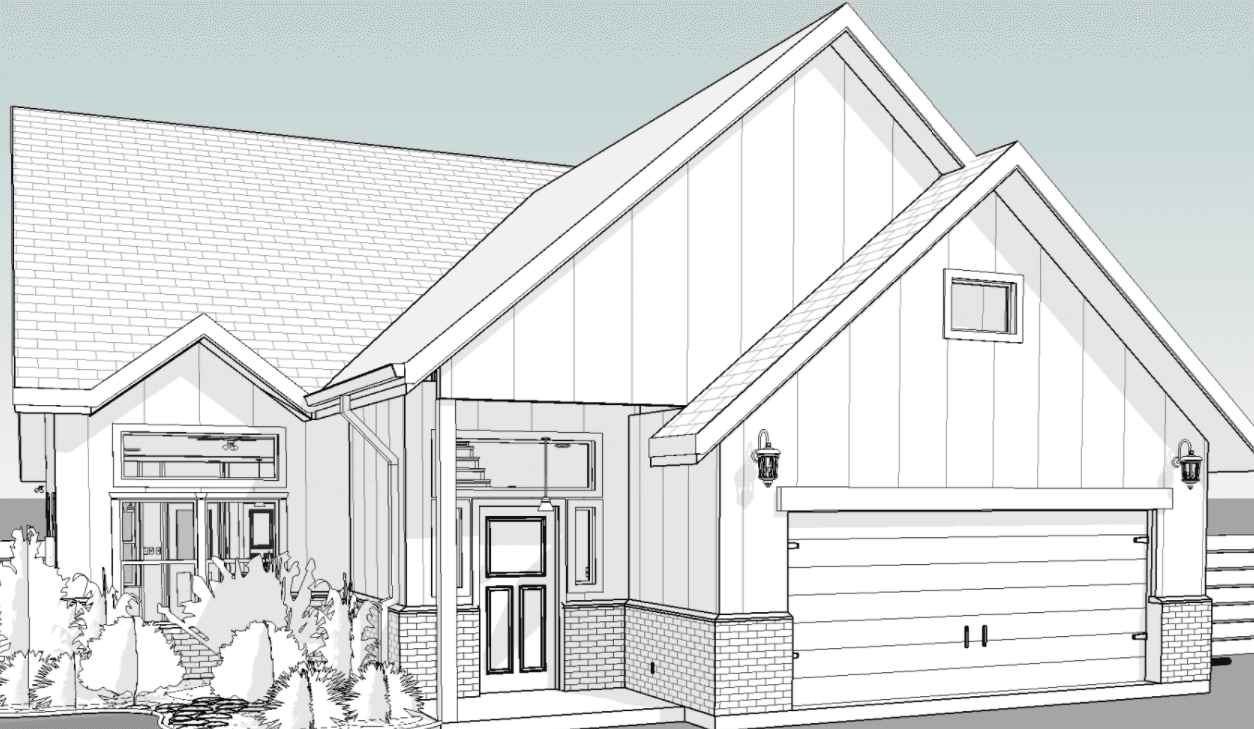 Exterior featured in the Warwick By New Phase Home Builders in Bryan-College Station, TX