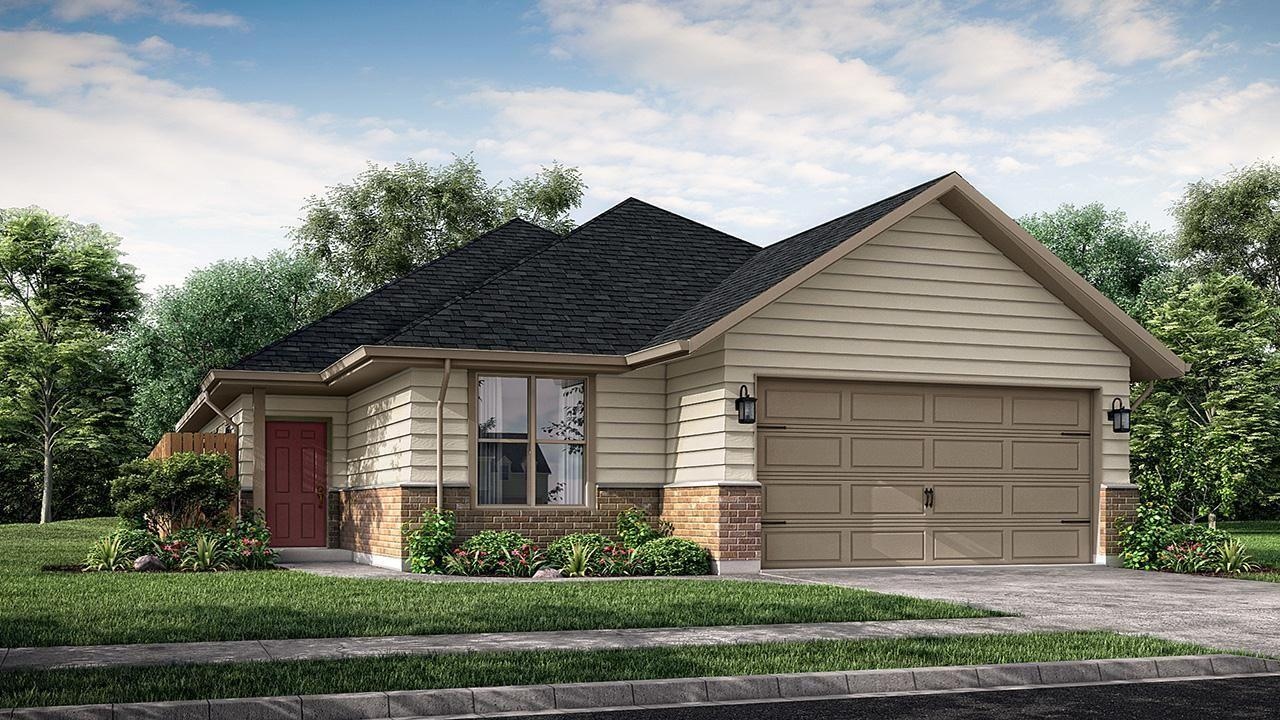 Exterior featured in the Canterbury By NewPhase Home Builders in Bryan-College Station, TX