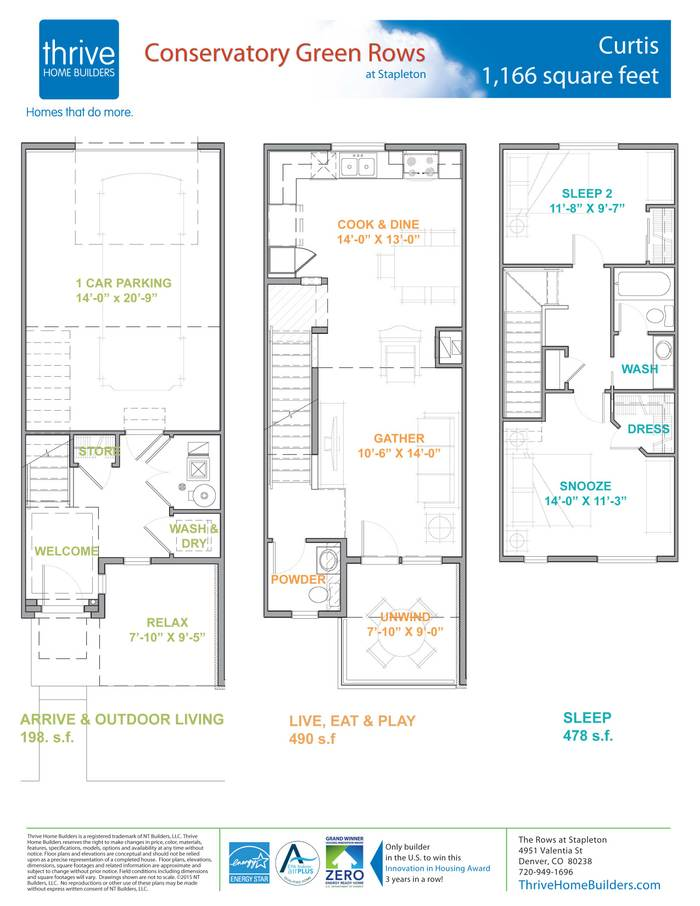 Curtis home plan by thrive home builders in conservatory for Thrive homes denver