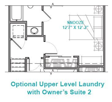Optional Upper Level Laundry with Owner's Suite 2