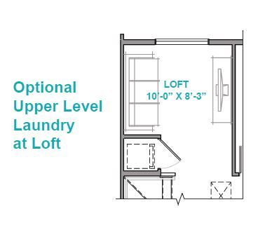 Optional Upper Level Laundry at Loft
