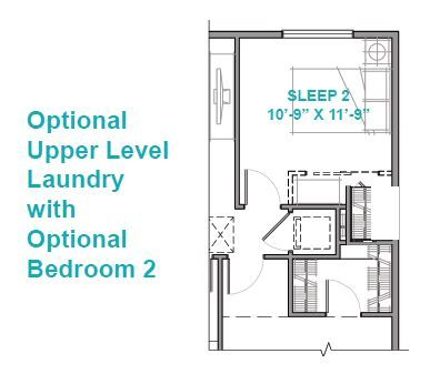 Optional Upper Level Laundry with Optional Bedroom 2