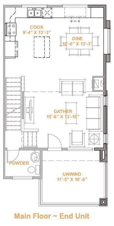 Main Floor End Unit