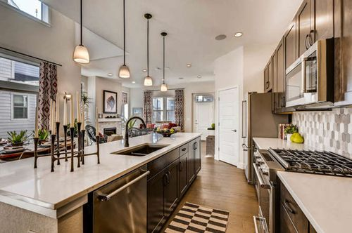 Kitchen-in-Plan Three-at-Vita Collection at Stapleton-in-Denver