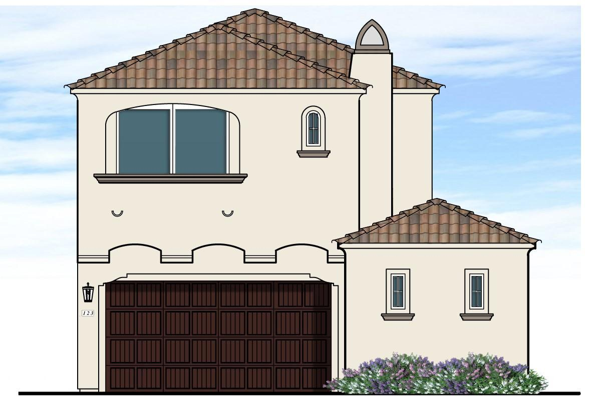Exterior featured in the Plan 101 By New Village Homes in Phoenix-Mesa, AZ