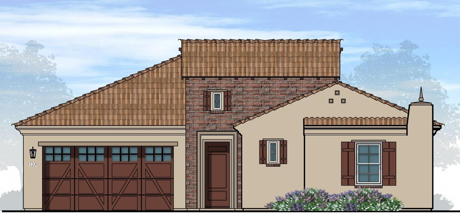 Exterior featured in the Plan 201 By New Village Homes in Phoenix-Mesa, AZ