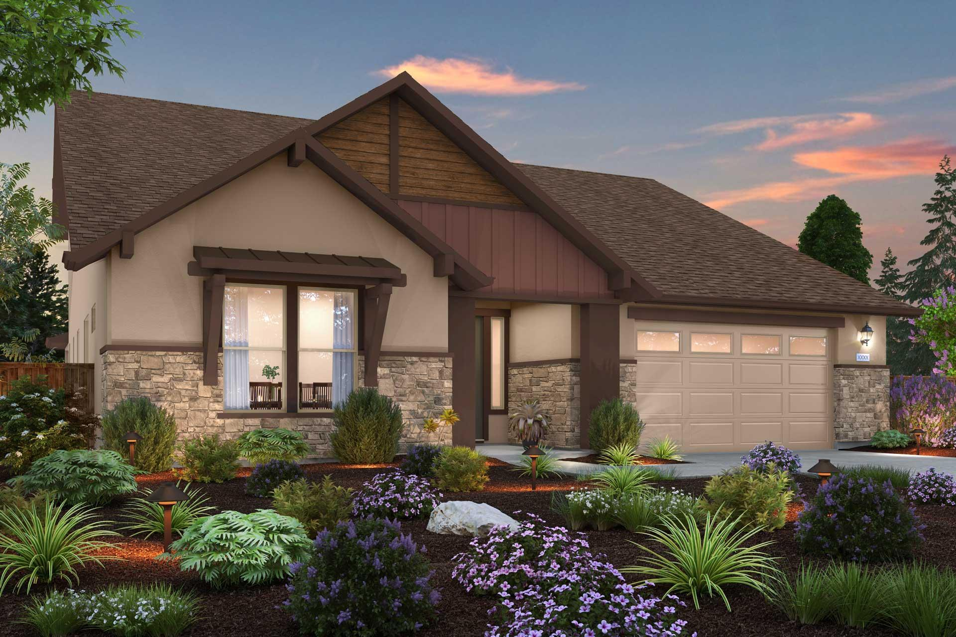 Exterior featured in the PLAN 2779 By Next Crafted  in Sacramento, CA