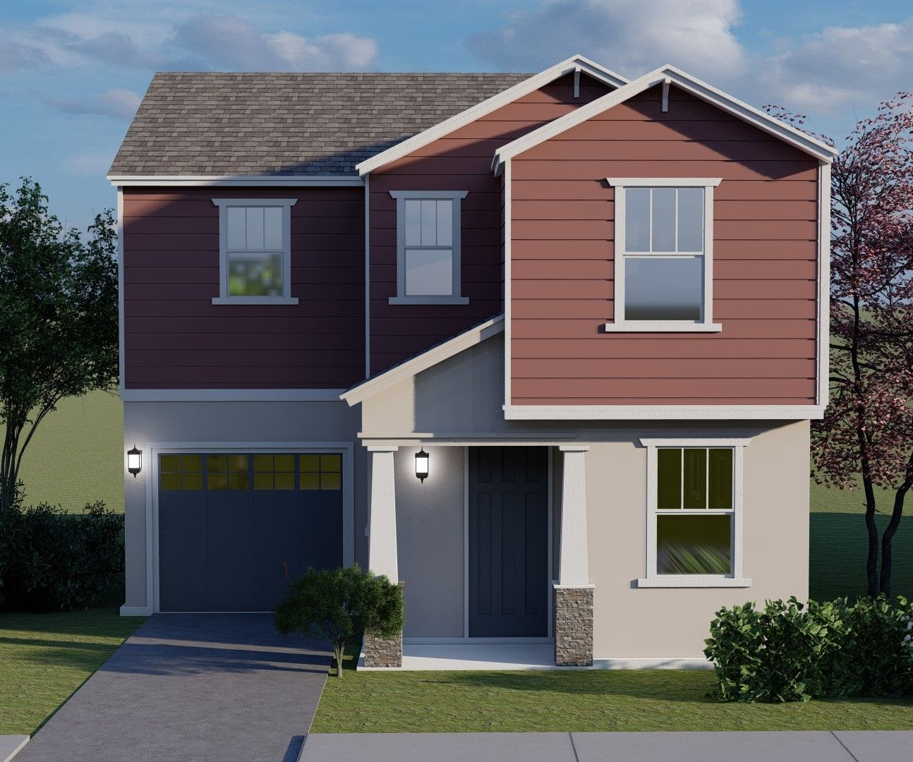 Exterior featured in the Plan 1 By Next Generation Capital  in Sacramento, CA