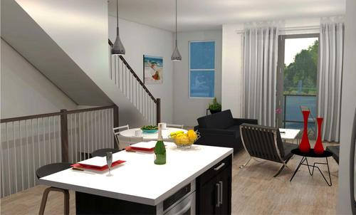Greatroom-and-Dining-in-Plan 1-at-Icon @ 14&C-in-Sacramento