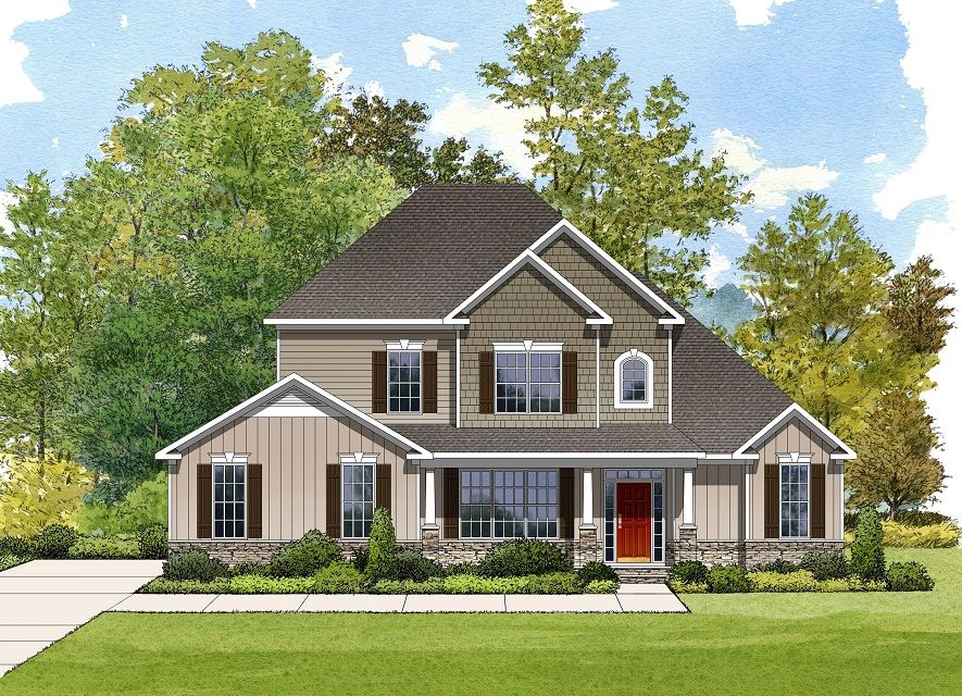 Exterior featured in the Berkley By Niblock Homes in Charlotte, NC