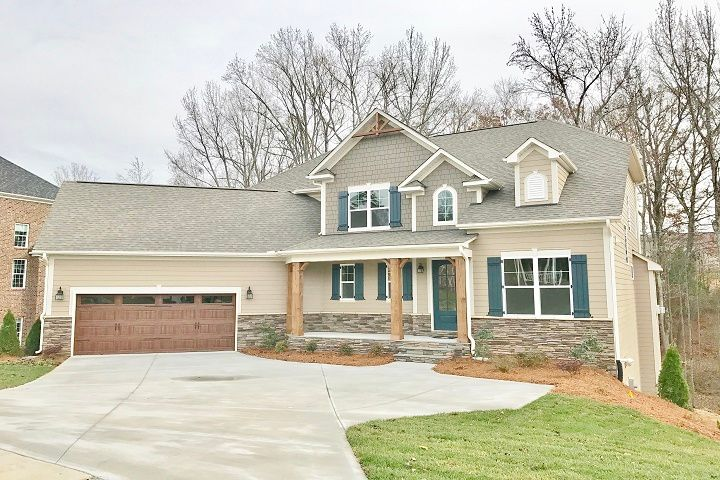Exterior featured in the Caldwell  By Niblock Homes in Charlotte, NC