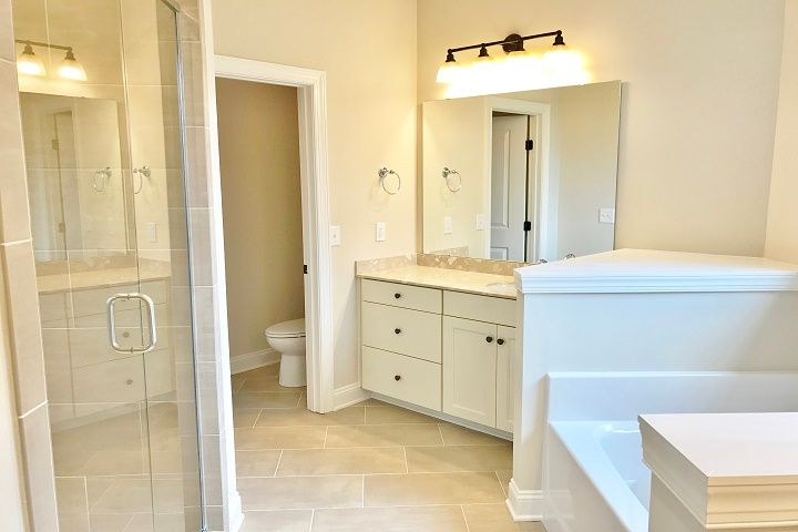 Bathroom featured in the Caldwell  By Niblock Homes in Charlotte, NC