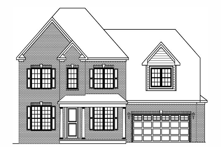 Exterior featured in the Hillcrest  By Niblock Homes in Charlotte, NC