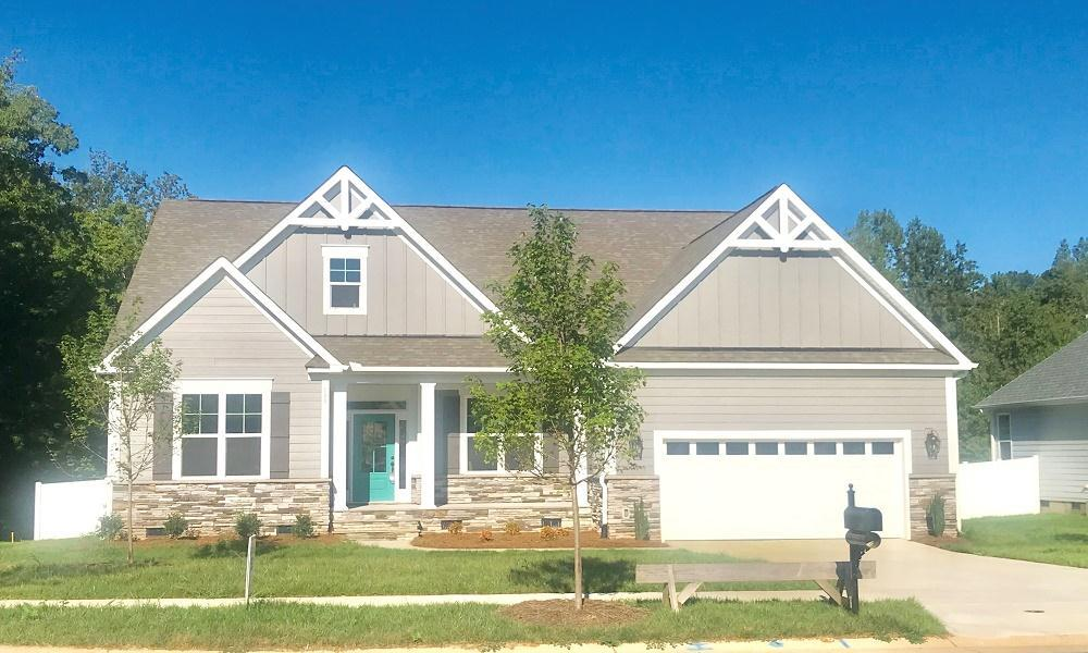Exterior featured in the Harper  By Niblock Homes in Charlotte, NC