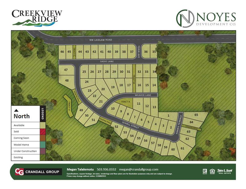 Creekview Ridge Lot Map