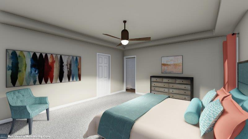 Bedroom featured in the Darby (Interior Unit) By O'Dwyer Homes in Atlanta, GA