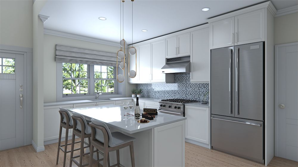 Kitchen featured in the Tuscany Classic By Vineyards at Mount Sinai in Nassau-Suffolk, NY