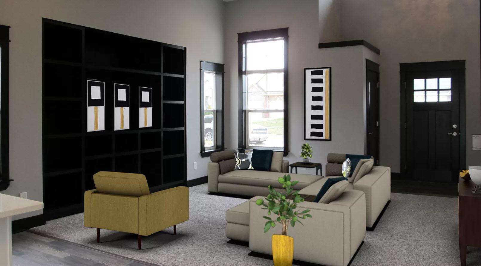 Living Area featured in the Stanford IV By Oak Ridge Homes in Lansing, MI