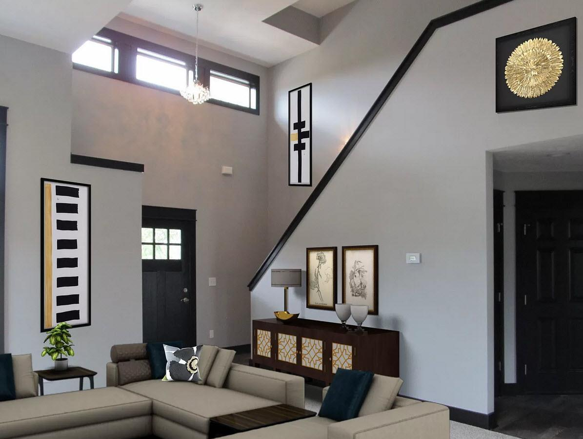 Living Area featured in the Stanford IV By Oak Ridge Homes in Ann Arbor, MI
