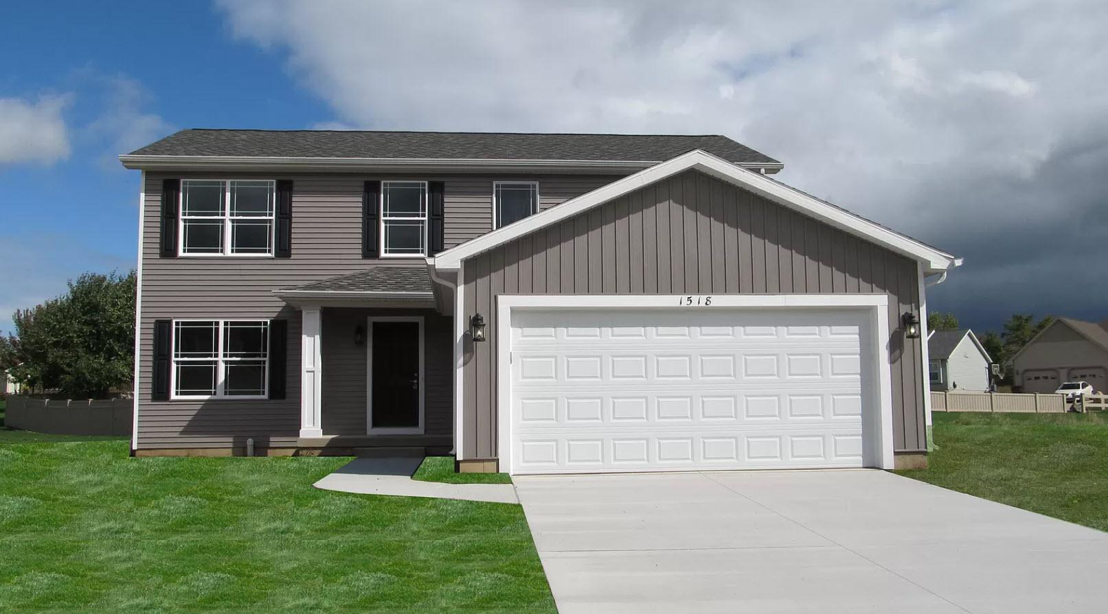 Exterior featured in the Clinton By Oak Ridge Homes in Lansing, MI